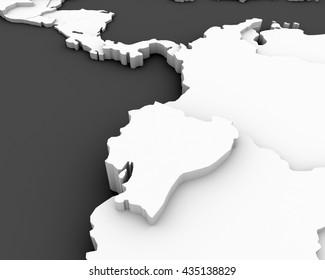 ecuador map 3D