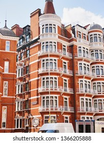 Ecuadorian Embassy - London, England - Aug 2014: Full view of Ecuadorian Embassy in London holding Juilian Assange.