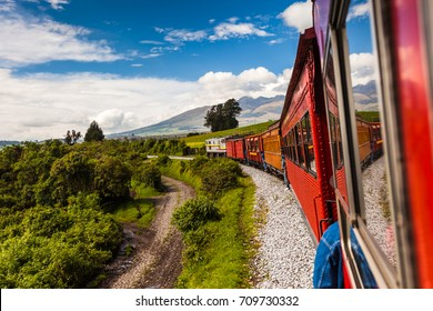 Ecuadorian railroad crossing the Sierra region