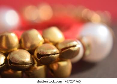 ed and golden ghungru (gudagru) closeup