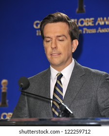Ed Helms announces the nominations for the 70th Annual Golden Globe Awards at the Beverly Hilton Hotel. December 13, 2012  Beverly Hills, CA Picture: Paul Smith