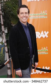 "Ed Helms at the Los Angeles Premiere of ""Dr. Suess' The Lorax"" held at the Universal Studios Hollywood, California, United States on February 19, 2012."