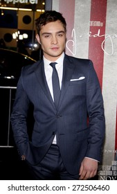 Ed Westwick at the AFI FEST 2011 Opening Night Gala World Premiere Of 'J. Edgar' held at the Grauman's Chinese Theatre in Hollywood on November 3, 2011.