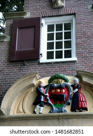 Edam building facade in Netherlands