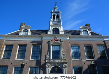 EDAM NETHERLAND OCTOBER 01 2015: Town Hall Edam is a city in the northwest Netherlands, in the province of North Holland. Combined with Volendam, Edam forms the municipality of Edam-Volendam.