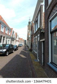 Edam, the Netherlands – August 07, 2017: Historic town of Edam - Origin of the famous Edamer Cheese
