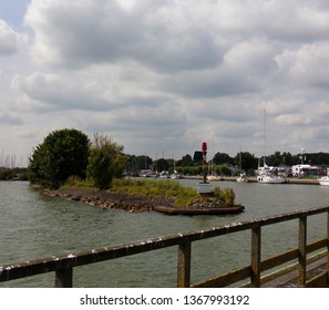 Edam, the Netherlands – August 07, 2017:  Northern Sea - View from the historic town of Edam, origin of the famous Edamer Cheese