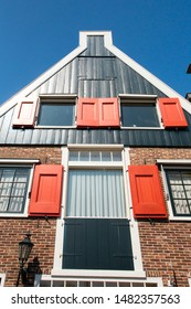 EDAM, NETHERLANDS - SEPTEMBER 1, 2018:  View of traditional architecture from Edam Netherlands,