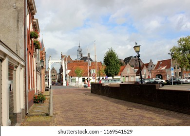 Edam, Netherlands - September 10. 2017 - Street of Edam