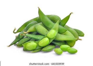 edamame beans isolated on white background