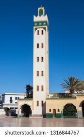 Eddarham Mosque in Dakhla. Dakhla, Western Sahara, Morocco.