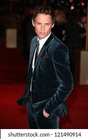 Eddie Redmayne arriving for the premiere of 'Les Miserables' at Leicester Square, London. 05/12/2012 Picture by: Alexandra Glen