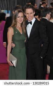 Eddie Redmayne and Hannah Bagshawe at the 85th Academy Awards at the Dolby Theatre, Hollywood. February 24, 2013  Los Angeles, CA Picture: Paul Smith