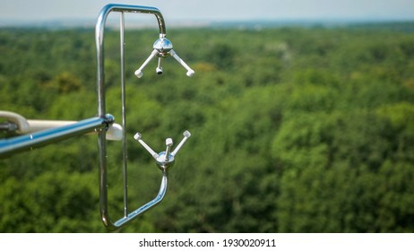 Eddy covariance systems consist sonic anemometer scientific tower station research gas analyzer wind carbon dioxide gas fluctuations. Floodplain forests meteorological weather meteorology measurements - Shutterstock ID 1930020911