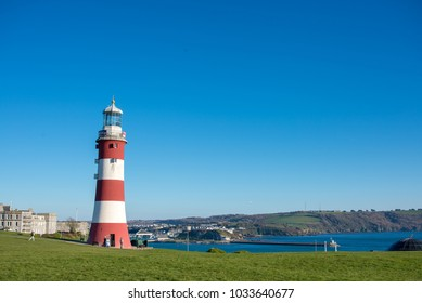 Eddystone lighthouse on Plymouth Hoe