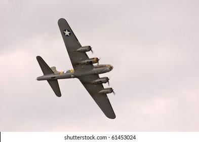 EDE, THE NETHERLANDS - SEPTEMBER 18: B17 Bomber at the Jan Hilgers Memorial / Airborne drop Arnhem 1944 Memorial on September 18, 2010 in Ede The Netherlands