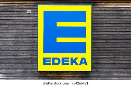Edeka Logo - NURNBERG/Germany - 12/08/2017