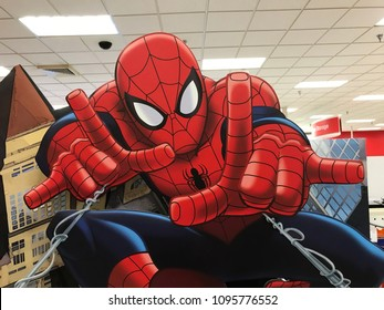 Eden Prairie, MN/USA- May 19, 2018. Retail display of the Super Hero Spiderman on display at a retail store in Minnesota.