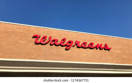 Eden Prairie, MN/USA- September 6th, 2018. The exterior of a Walgreens store in Minnesota.
