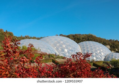 Eden Project - biomes in autumn