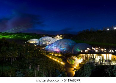 Eden Project Light and Sound Event, Par, Cornwall, UK, photographs taken through out December 2016. Documentary Editorial. Light Curation Chris Levine.