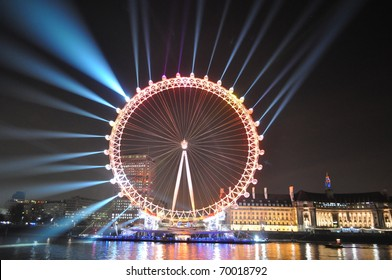 EDF Energy London Eye, Sponsorship Launch Light Show
