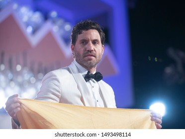 """Edgar Ramirez walks the red carpet ahead of the """"Wasp Network"""" screening during the 76th Venice Film Festival at Sala Grande on September 01, 2019 in Venice, Italy."""