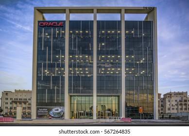 THE EDGE BUILDING, DUBAI. 27.1.2017.  Construction is complete on the Edge building in Dubai' Media City.