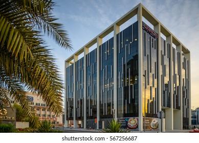 THE EDGE BUILDING, DUBAI MEDIA CITY, DUBAI. 27.1.2017.  The Edge Building, in the heart of Dubai's Media City is finished.