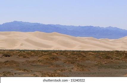 The edge of the Gobi Desert, Mongolia