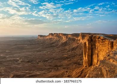 Edge of the World, a natural landmark and popular tourist destination near Riyadh -Saudi Arabia. - Shutterstock ID 1837965175