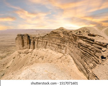 Edge of the World (حافة العالم) near Riyadh, KSA at sunset