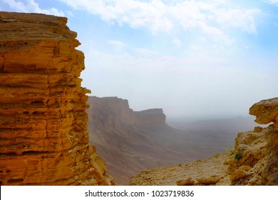 The Edge of the World is a part of the 800km Tuwaiq Escarptment and the famous part can be reached to the north of Riyadh, Saudi Arabia.