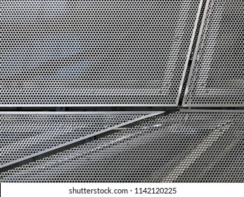 Edges And Gaps Of Perforated Metal Panels On Facade
