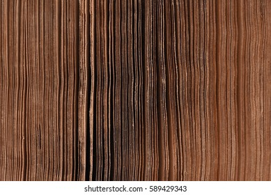 Edges of old open book abstract background