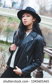 Edgy Asian model