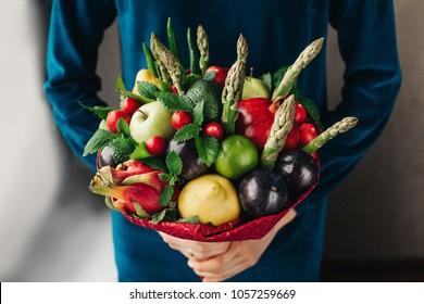 Edible arrangements, edible fruit vegatable bouquet