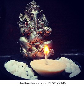 Edible candle.. White chocolate candle for lord Ganesha