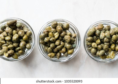 Edible Capers in Glass Bowl Ready to Eat.