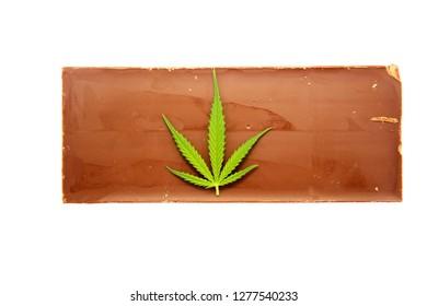 Edible Chocolate infused Marijuana. Chocolate bar infused with Marijuana or Cannabis.