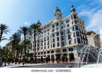 Edificio Carbonell building in Alicante. This is one of the most prominent and remarkable buildings in Alicante. Comunidad Valenciana, Spain
