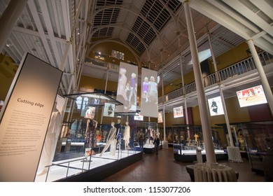 EDIMBURGH SCOTLAND UK-JANUARY 21, 2018: National Museum of Scotland interior .