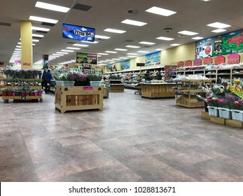 Edina, MN/USA- February 19th, 2018. The interior of a Trader Joe's grocery store in Minnesota.