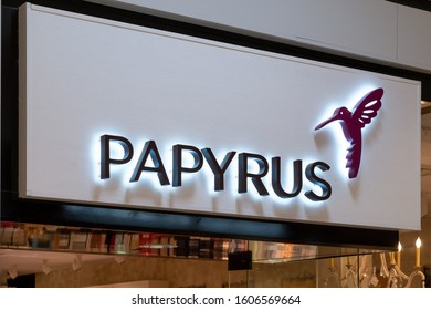 EDINA, MN/USA - JANUARY 1, 2020: Papyrus retail store exterior and trademark logo.