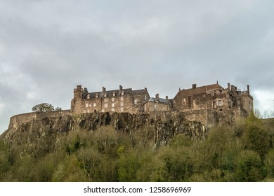 Edinburg castle at the top of the hill