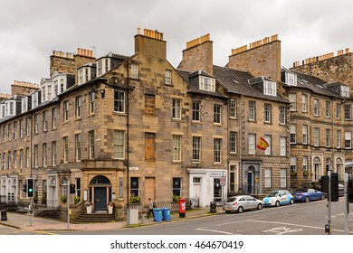 EDINBURG, SCOTLAND - JULY 17, 2016: Achitecture of the Old Town of Edinburgh, Scotland. Old Town and New Town are a UNESCO World Heritage Site