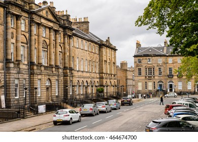 EDINBURG, SCOTLAND - JULY 17, 2016: Achitecture of Edinburgh, Scotland. Old Town and New Town are a UNESCO World Heritage Site