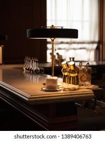 Edinburgh - August 19th 2018 - Luxurious apartment bar