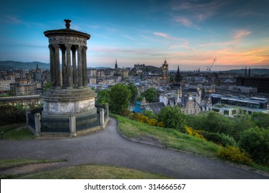 Edinburgh from Carlton Hill at dusk