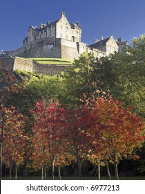 Edinburgh Castle In The Autumn (Fall), Scotland, UK